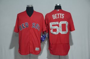 2017 MLB Boston Red Sox 50 Betts Red Spring Training Flex Base Jersey
