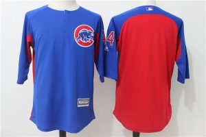 2017 MLB Chicago Cubs 44 Blue Practice clothes Jerseys