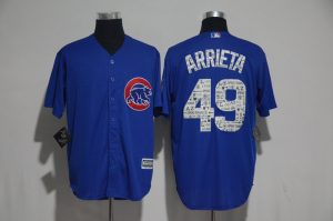 2017 MLB Chicago Cubs 49 Arrieta Blue Fashion Edition Jerseys
