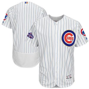 2017 MLB Chicago Cubs Blank CUBS White Gold Program Elite Jersey