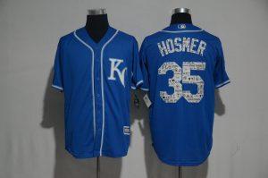 2017 MLB Kansas City Royals 35 Hosmer Blue Fashion Edition Jerseys