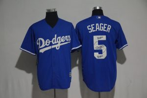 2017 MLB Los Angeles Dodgers 5 Seager Blue Fashion Edition Jerseys