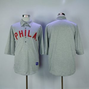 2017 MLB Philadelphia phillies Mitchell and Ness Gray Authentic 1900 Throwback jersey