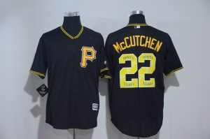 2017 MLB Pittsburgh Pirates 22 Mccutchen Black Fashion Edition Jerseys