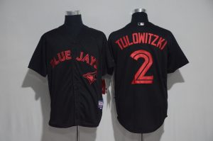 2017 MLB Toronto Blue Jays 2 Tulowitzki Black Jerseys