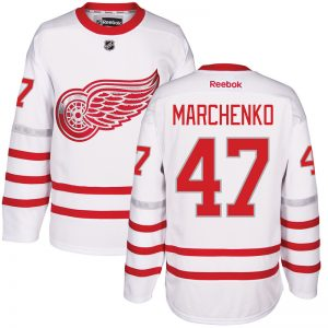 2017 NHL Detroit Red Wings 47 Marchenko White Jerseys