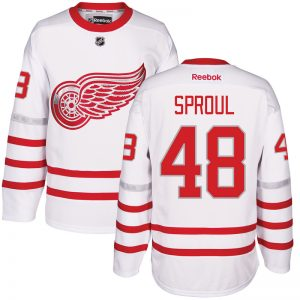 2017 NHL Detroit Red Wings 48 Sproul White Jerseys