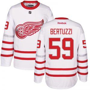 2017 NHL Detroit Red Wings 59 Bertuzzi White Jerseys