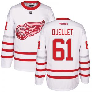 2017 NHL Detroit Red Wings 61 Ouellet White Jerseys