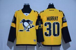 2017 NHL Pittsburgh Penguins 30 Murray Yellow Jerseys