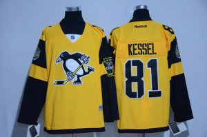 2017 NHL Pittsburgh Penguins 81 Kessel Yellow Jerseys