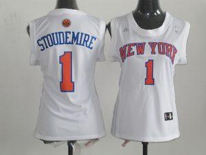 2017 Women NBA New York Knicks 1 Stoudemire white jerseys
