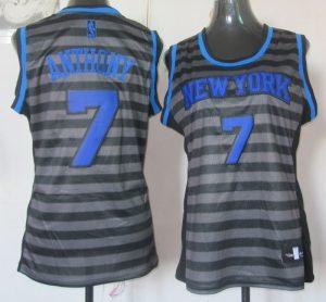 2017 Women NBA New York Knicks 7 Anthony grey jerseys