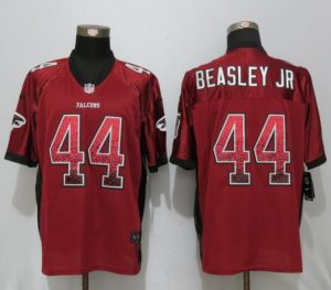 New Nike Atlanta Falcons 44 Beasley jr Drift Fashion Red Elite Jerseys