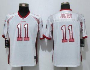 Women New Nike Atlanta Falcons 11 Jones Drift Fashion White Elite Jerseys