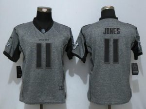 Women New Nike Atlanta Falcons 11 Jones Gray Men Stitched Gridiron Gray Elite Jersey