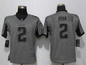 Women New Nike Atlanta Falcons 2 Ryan Gray Stitched Gridiron Gray Elite Jersey