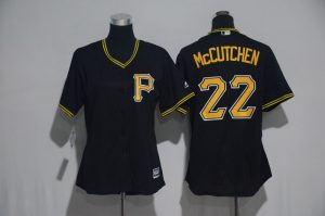 Womens 2017 MLB Pittsburgh Pirates 22 Mccutchen Black Jerseys