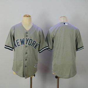 Youth 2017 MLB New York Yankees Blank Grey Jerseys