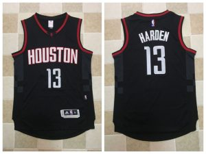 2017 NBA Houston Rockets 13 James Harden Black Jerseys