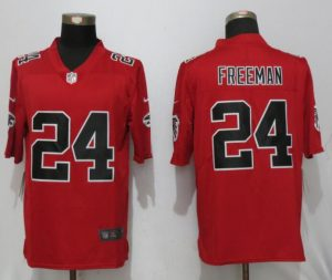 2017 New Nike Atlanta Falcons 24 Freeman Red Color Rush Limited Jersey