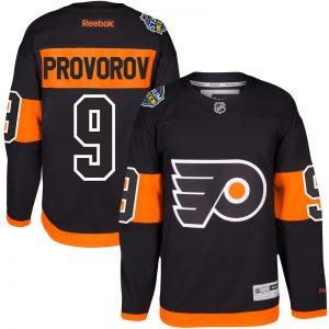 Men Philadelphia Flyers 9 Ivan Provorov Reebok Black 2017 Stadium Series Player Premier Jersey