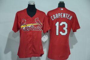 Womens 2017 MLB St. Louis Cardinals 13 Carpenter Red Jerseys
