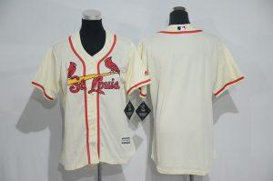 Womens 2017 MLB St. Louis Cardinals Blank Cream Jerseys
