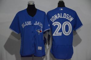 Womens 2017 MLB Toronto Blue Jays 20 Donaldson Blue Elite Jerseys